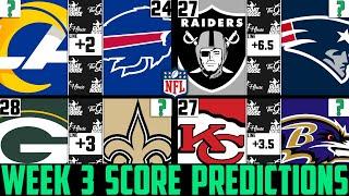 NFL Week 3 Score Predictions 2020 (NFL WEEK 3 PICKS AGAINST THE SPREAD 2020)