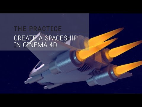 The Practice // 60 - Model, Light and Render a 3d Spaceship