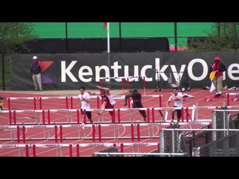 Louisville 21 Apr 2013 - 110m Hurdles (M) - Lenny Lyles/Clark Wood Invite