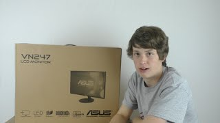 asus vn247h 1ms response time unboxing and review