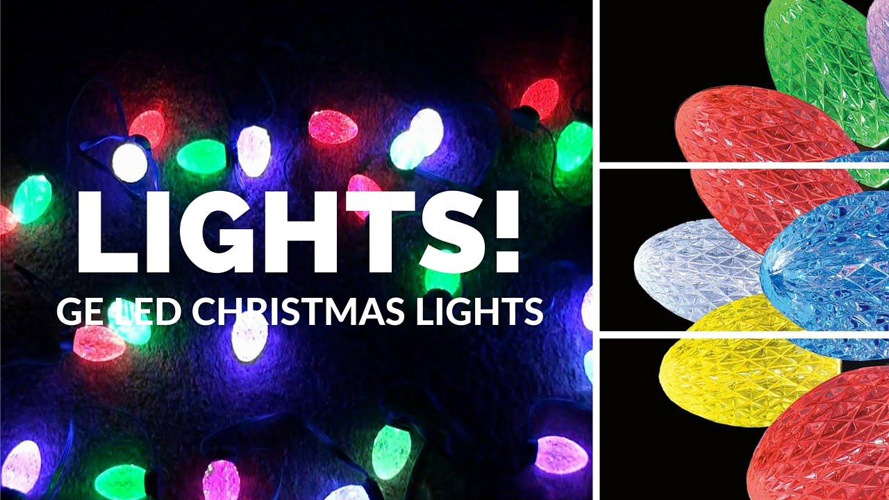 GE Color Changing Light Show Smart Christmas Lights G-35 - YouTube
