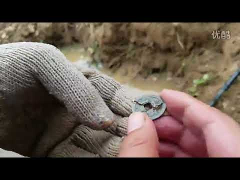metal detector collect gold coin, old coin of chinese tresaure