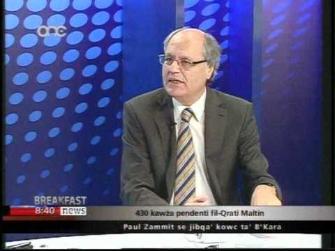 Prof. Edward Scicluna - Breakfast News ONE 25.05.2012