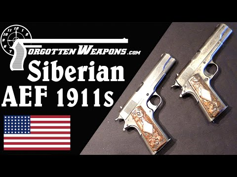 Personalized 1911s from the WW1 American Expedition to Siberia