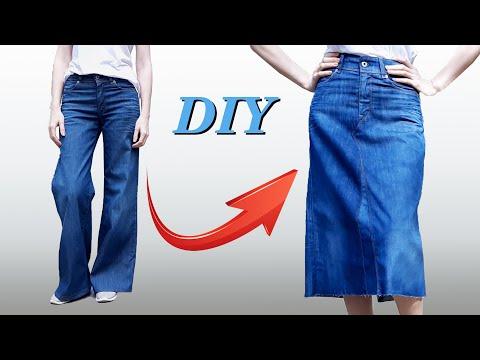 Как сшить Юбку из Джинсов Своими Руками! DIY / Jean Skirt
