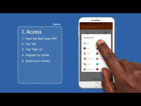 How to register on the StarTimes app - YouTube