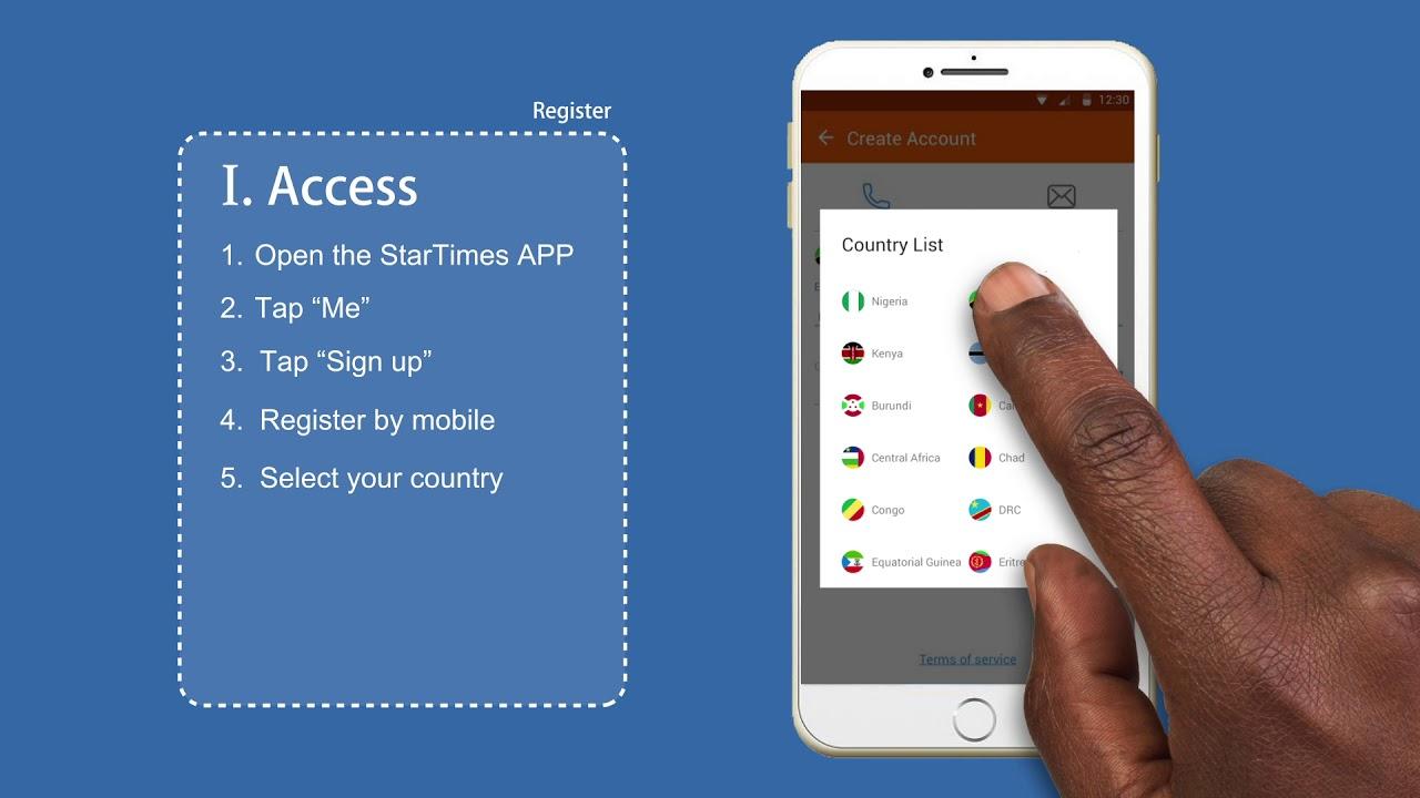 How to register on the StarTimes app