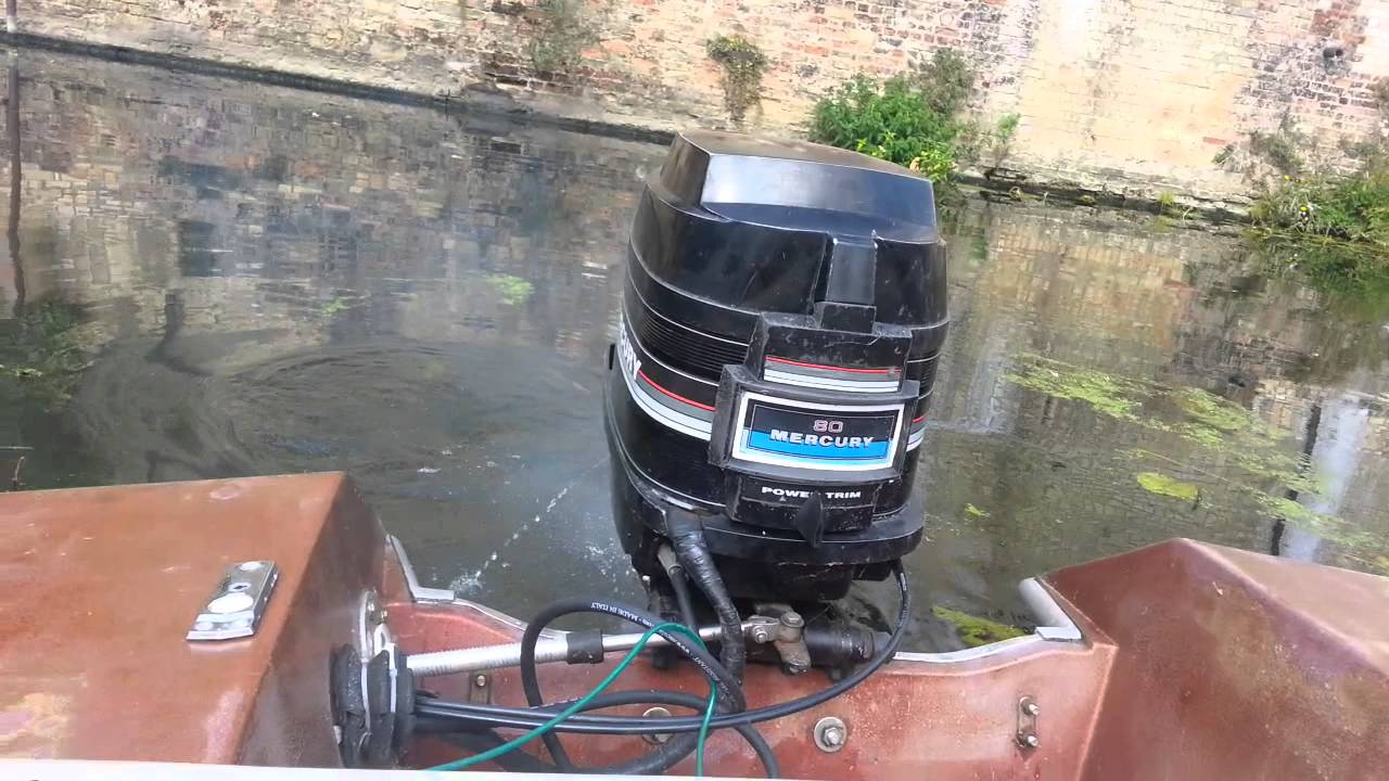 Mercury 80 HP outboard  YouTube