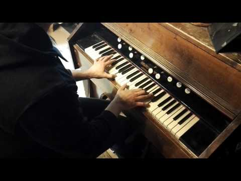 Interstellar soundtrack cover with old Finnish pump organ