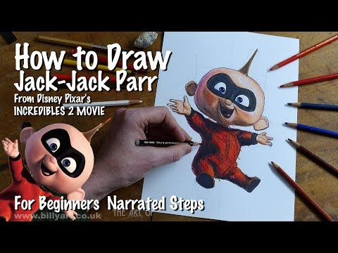 How to Draw Jack Jack Parr from Incredibles 2 for art beginners