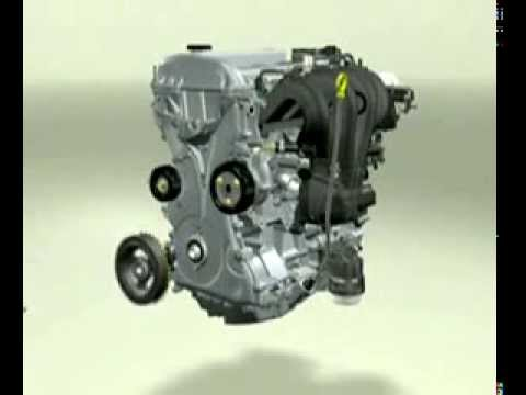 Structure and operation of the car engine 2014 - YouTube