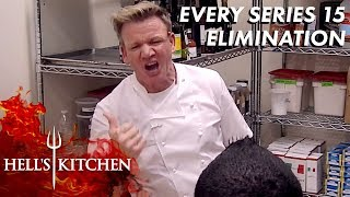 Every Series 15 Eliminated on Hell's Kitchen