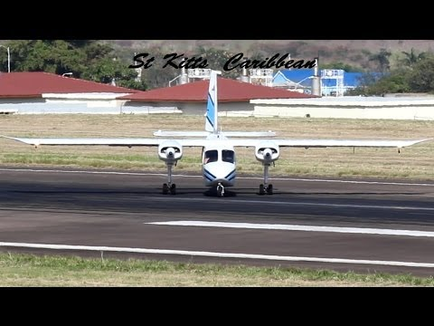Trans Anguilla Airways BN-2 Islander action @ St Kitts (HD 1080p)