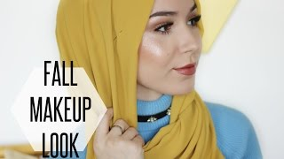 FALL MAKEUP TUTORIAL + HIJAB TUTORIAL | NABIILABEE