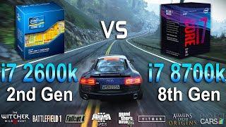 i7 2600K vs i7 8700K Test in 8 Games