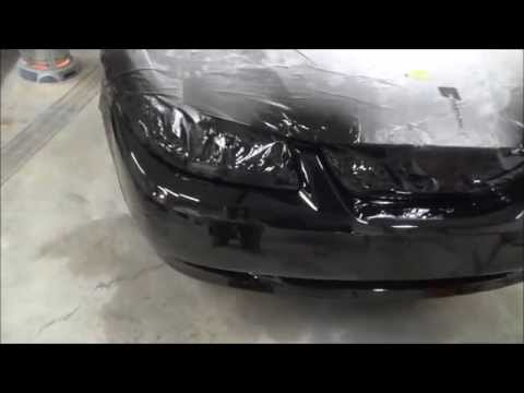 Paint your car at home.  How to repair and paint a plastic b