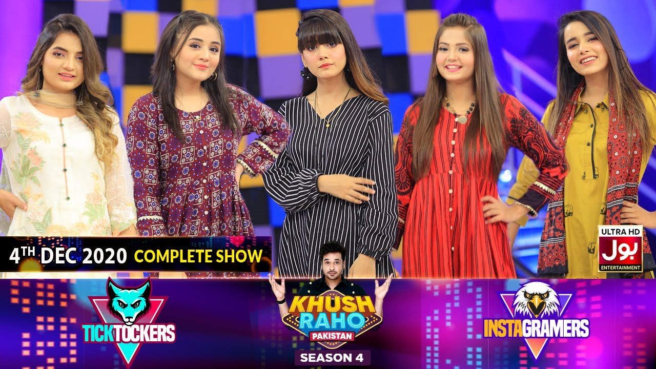 Game Show | Khush Raho Pakistan Season 4 | Instagramers Vs Tick Tockers | 4th December 2020