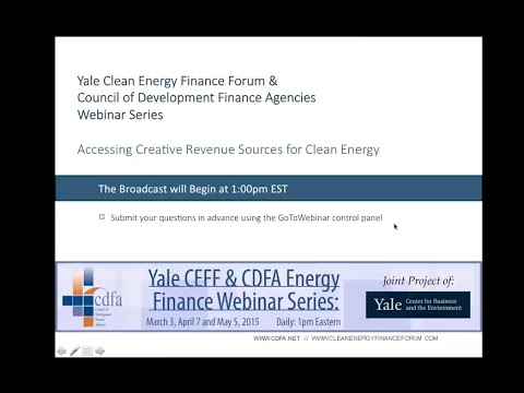 Accessing Creative Revenue Sources for Clean Energy