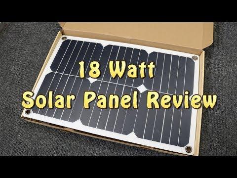 18 Watt Solar Panel Review & Testing