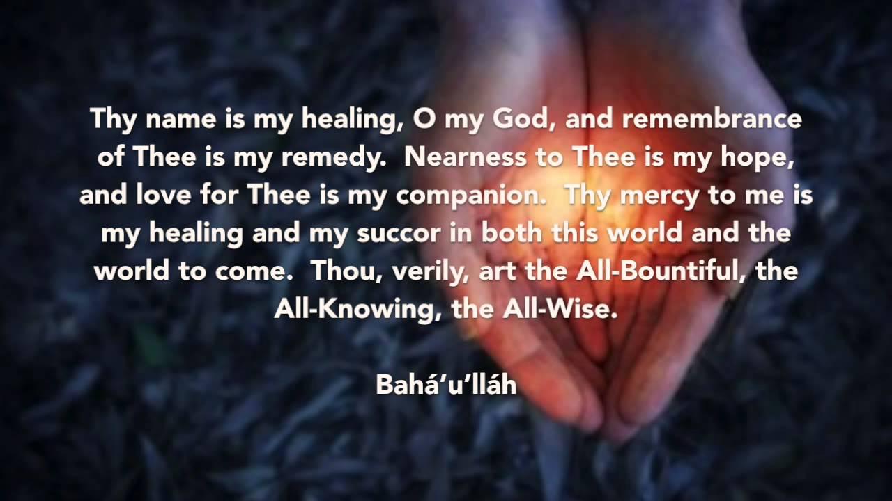 Baha I Prayer Thy Name Is My Healing Prasad V S