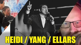 Andrew Yang with Heidi and Ellars
