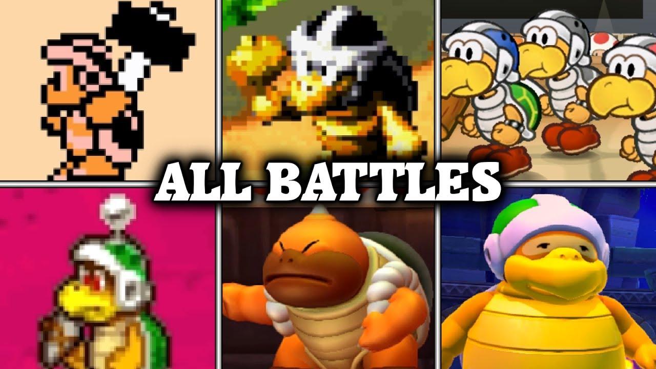 Evolution Of Hammer Bro Battles In Mario Games 1988 2017 Youtube