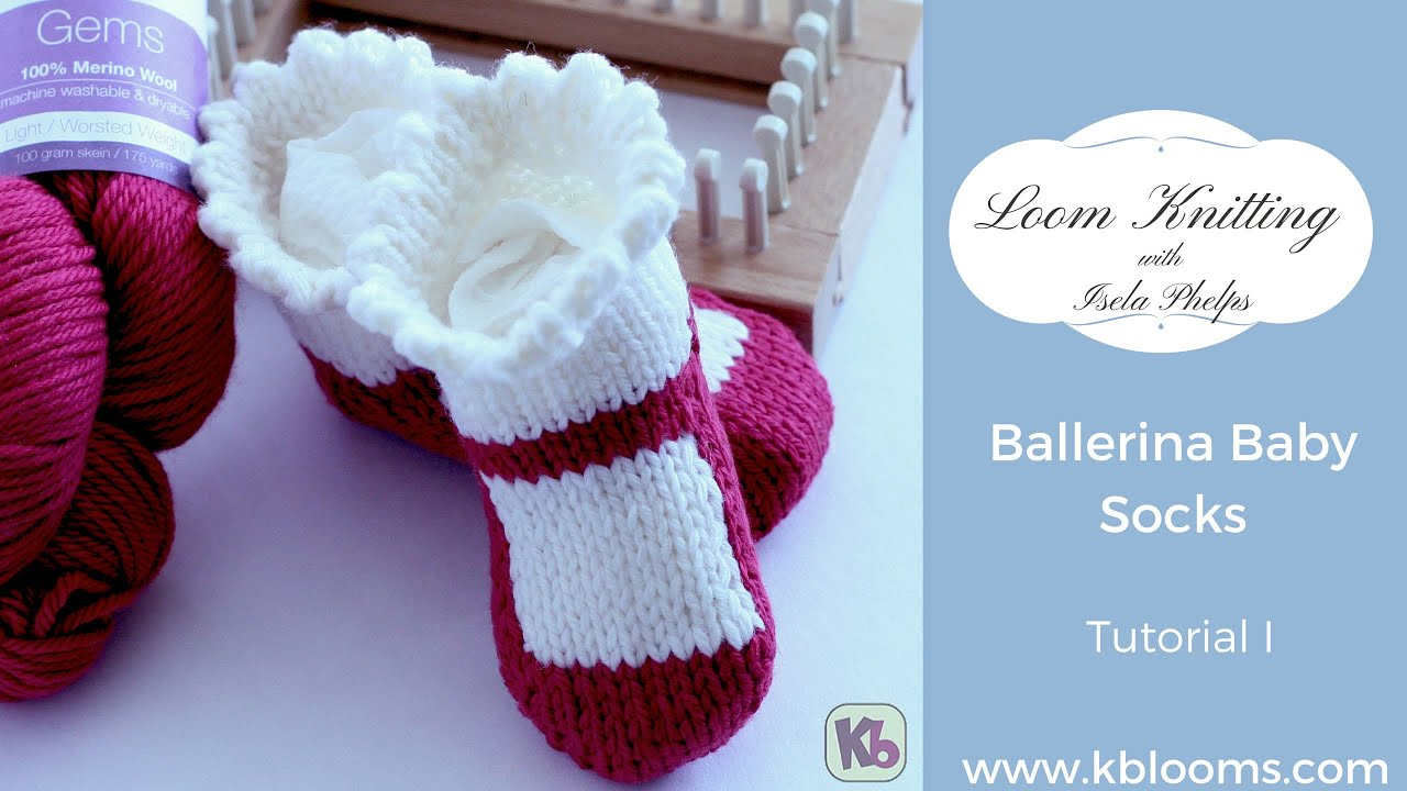 Loom Knitting Ballerina Baby Socks