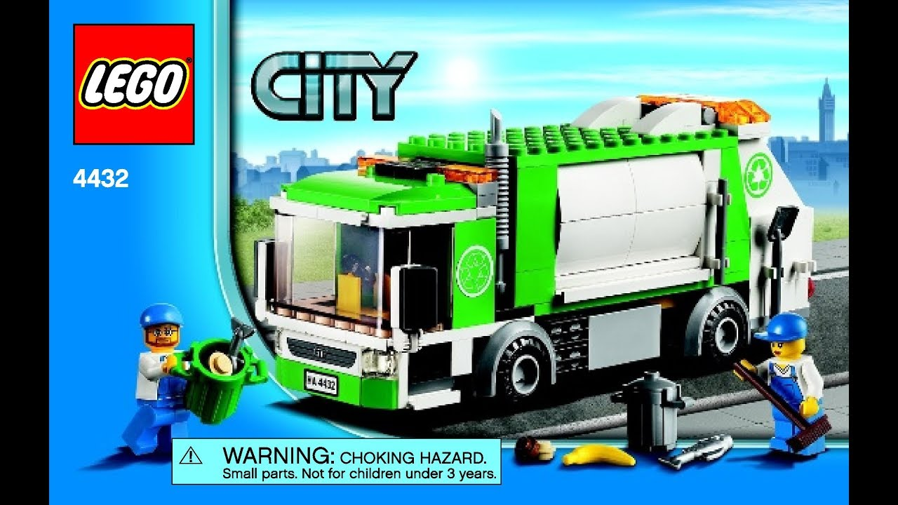 Lego City Town Garbage Truck 4432 Instructions Book Diy Youtube