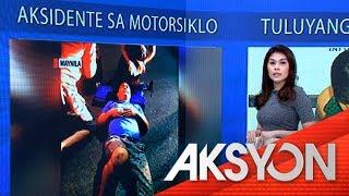 Angkas ng motorsiklo, sugatan nang maaksidente sa Maynila