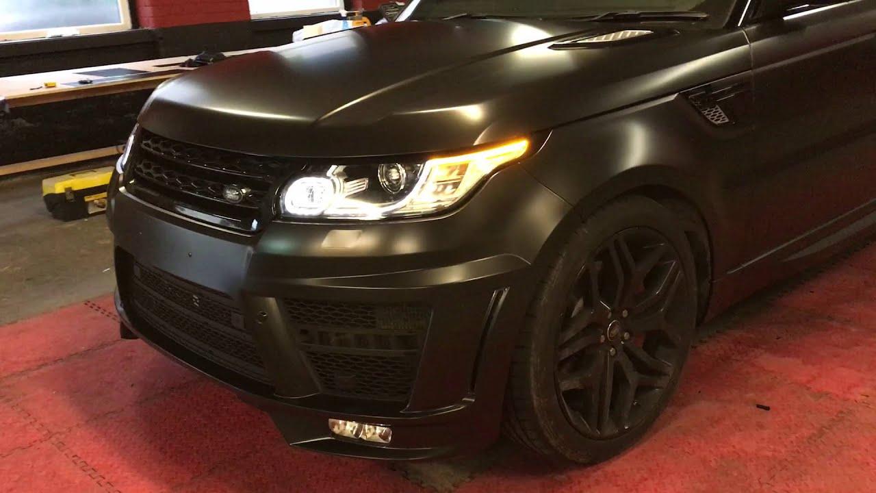 Range Rover Sport Satin Black Wrap 360