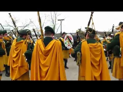 Ancient Order of Hibernians Pipes and Drums ~ 2016 Mystic Irish Parade