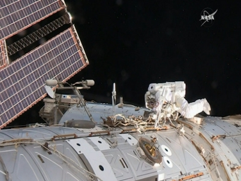 Spacewalking Astronauts Make Urgent ISS Repairs