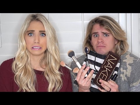 HUSBAND BUYS & DOES WIFE'S MAKEUP! (DOES AMAZING)