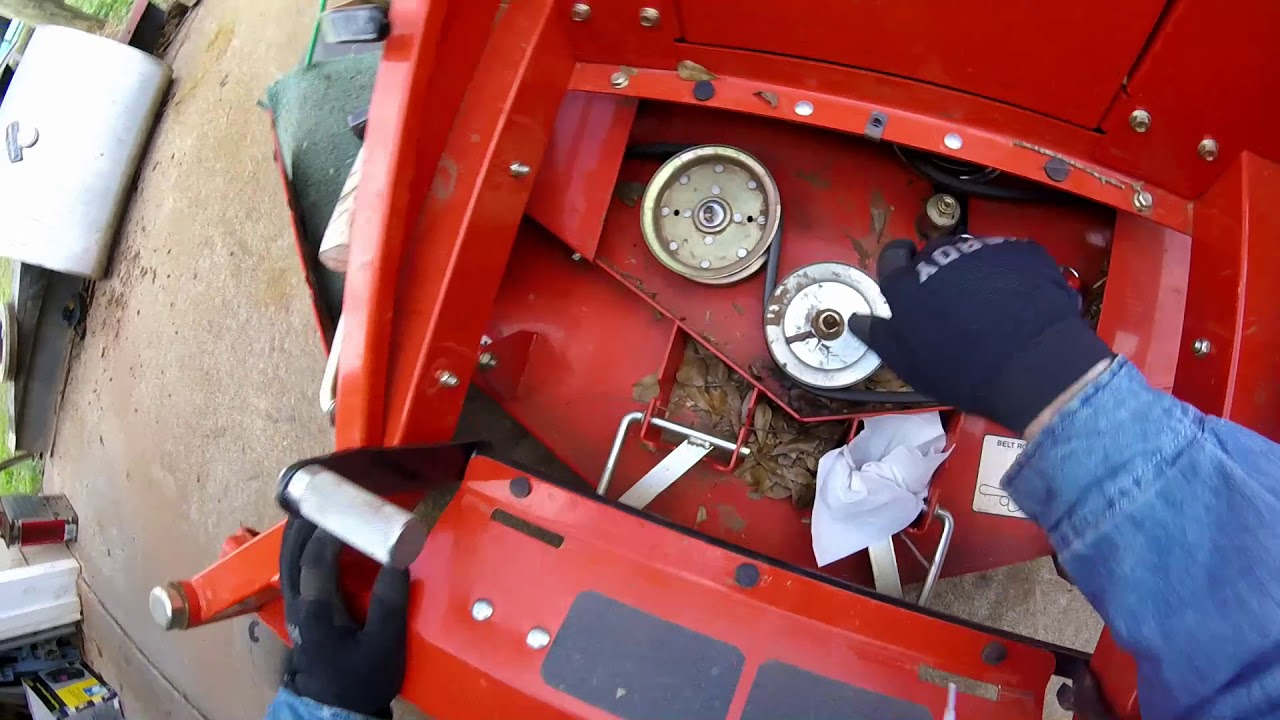 medium resolution of replace idler pulley husqvarna zero turn mower part one