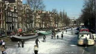 video: Ice skating Amsterdam canals, Holland 2012, Benjamin Francis Leftwich