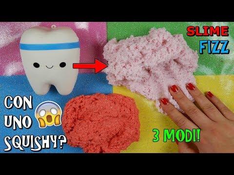 SLIME FIZZ! (NON AVETE MAI VISTO QUESTA RICETTA) SLIME CON UNO SQUISHY!? Iolanda Sweets