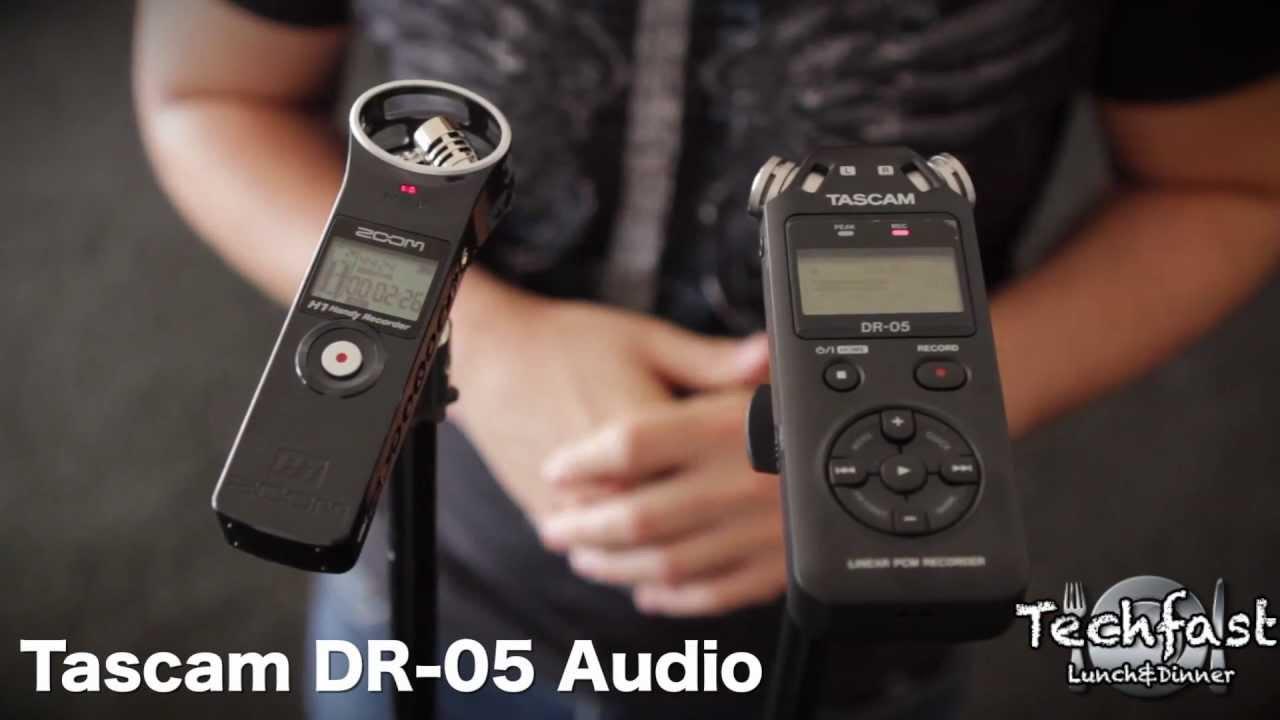 Zoom H1 Vs Tascam Dr 05 Audio Shootout Comparison Youtube