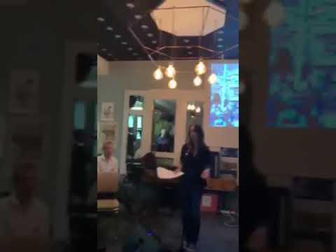 Eva Bartlett speaking in Reykjavik:  International Solidarity Event Reykjavik–Damascus