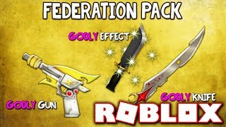 BUYING THE NEW LIMITED FEDERATION GODLY PACK!! (Roblox Murder Mystery X)
