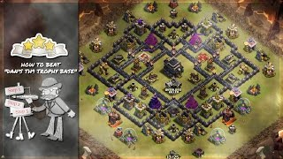 "Clash of Clans - Attack Strategy - How to Beat ""Dan's TH9 Trophy Base"" 