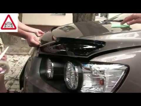 Дефлектор капота, установка (мухобойки) VIP Tuning на Chevrolet Aveo
