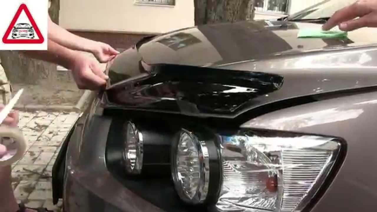 дефлектор капота chevrolet lanos установка