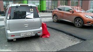 Припаркованная машина не дает проложить дорогу в Академическом / Новости
