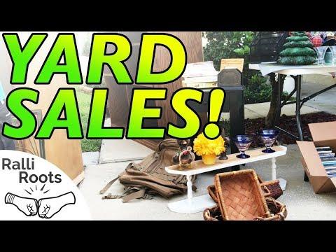 Yard Sale TREASURE Hunting! Full Ride Along! 15 SALES!