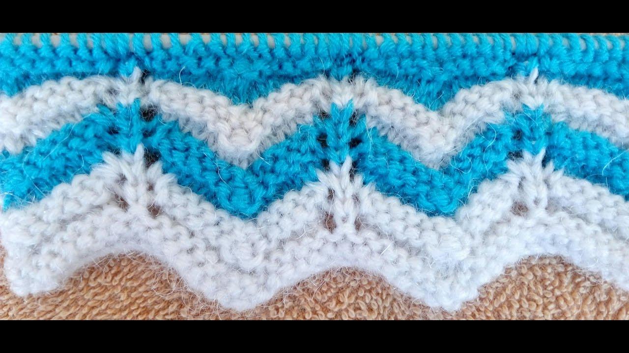 Zig-Zag Knitting Pattern - YouTube