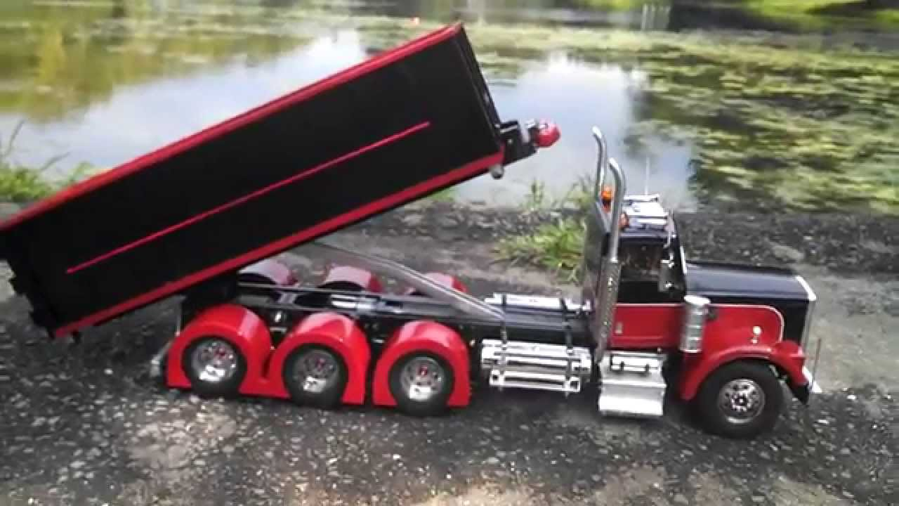 radio controlled roll off dumpster truck youtube