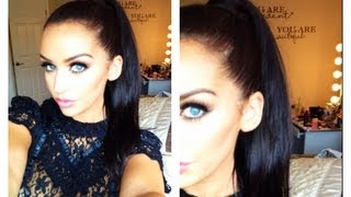 Sleek High Ponytail Using Extensions