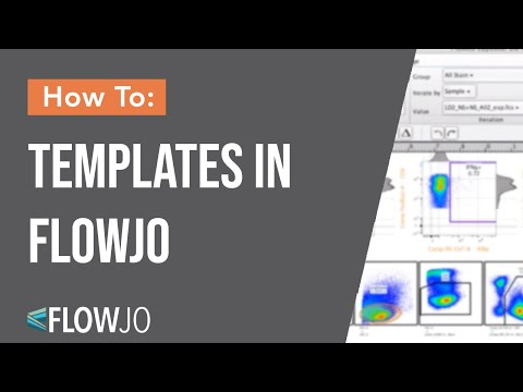 How To Use Templates In Flowjo Youtube