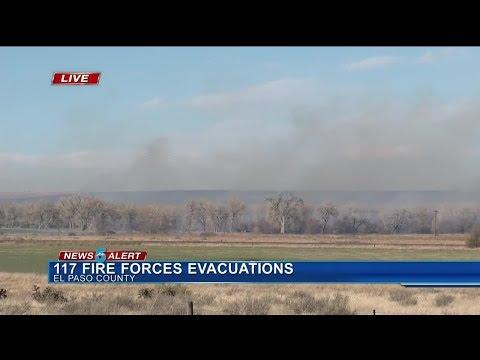 117 Fire continues to spread in El Paso County
