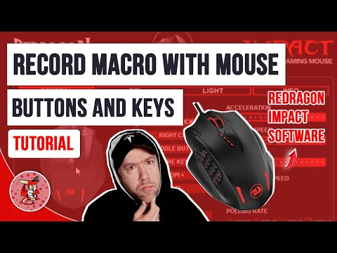 How to Record Macro with Mouse Buttons and Keys in Redragon Impact Software